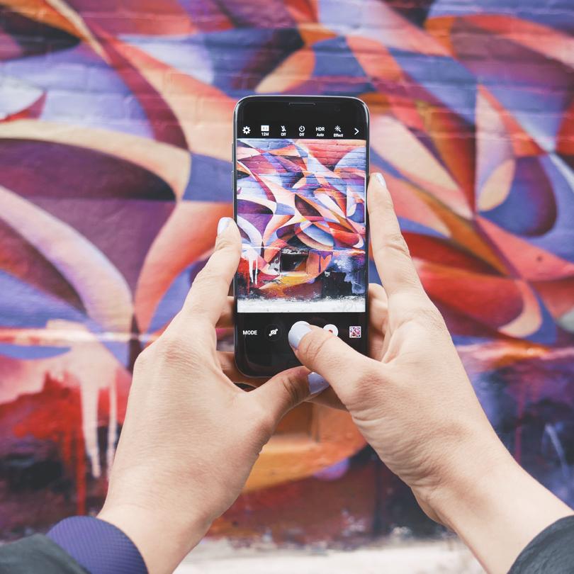 taking a photo social media advertising