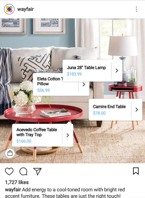 wayfair-instagram-shoppable